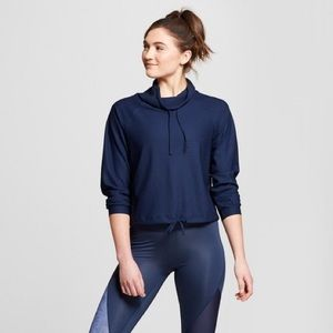 Joy Lab Tops - Joy Lab • Navy Workout Pullover
